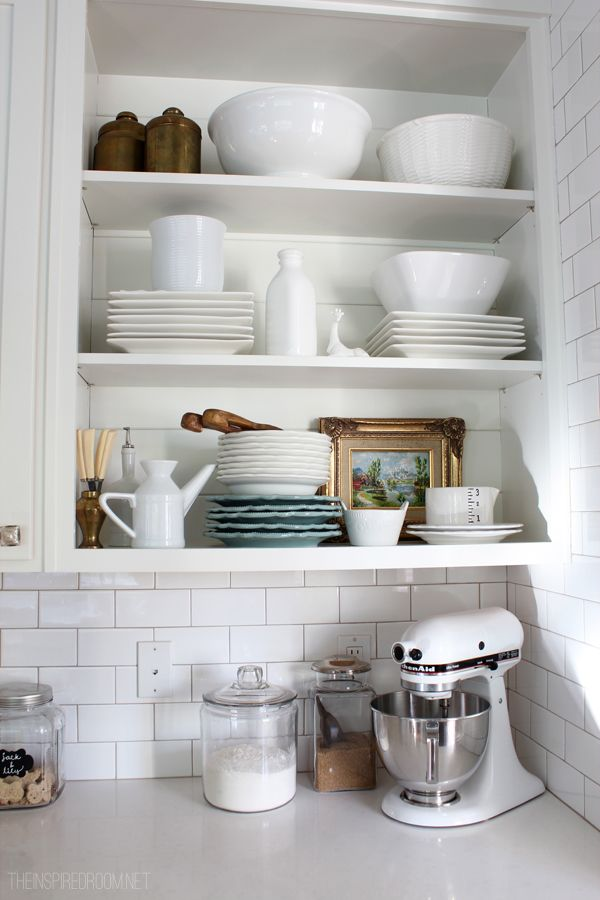 Kitchen open shelf display