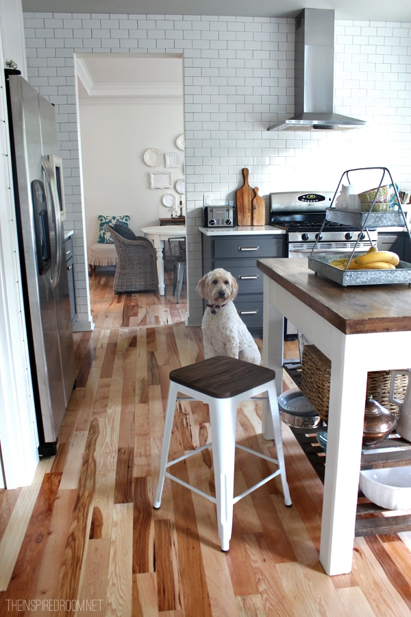 Kitchen barstool with island