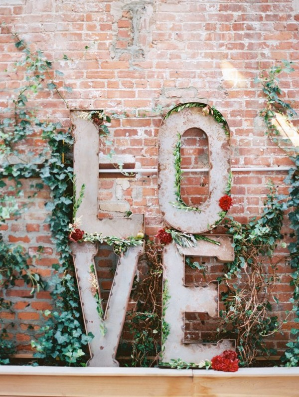 Love Sign Wedding Decor