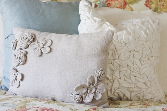 Pretty pillows for guest room