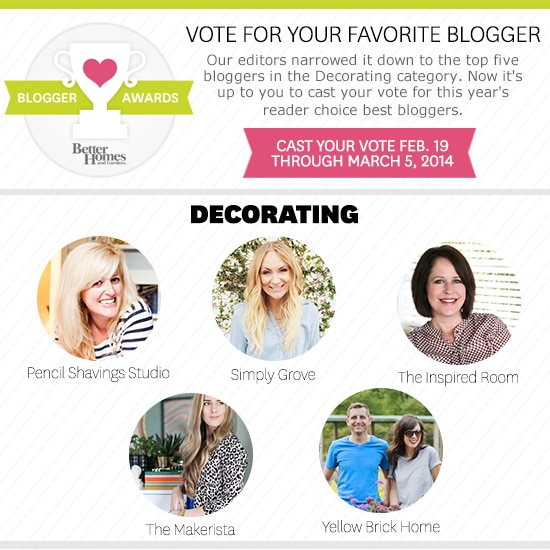 Top Five Decorating Bloggers!