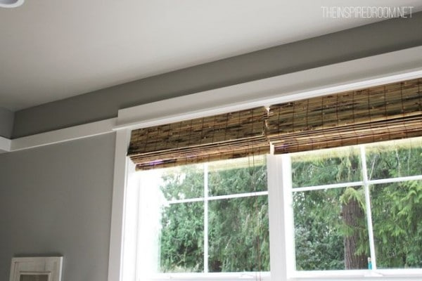 Tortoise Bamboo Blinds Inset Mount