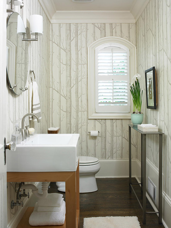 Birch Tree Forest Wallpaper Bathroom