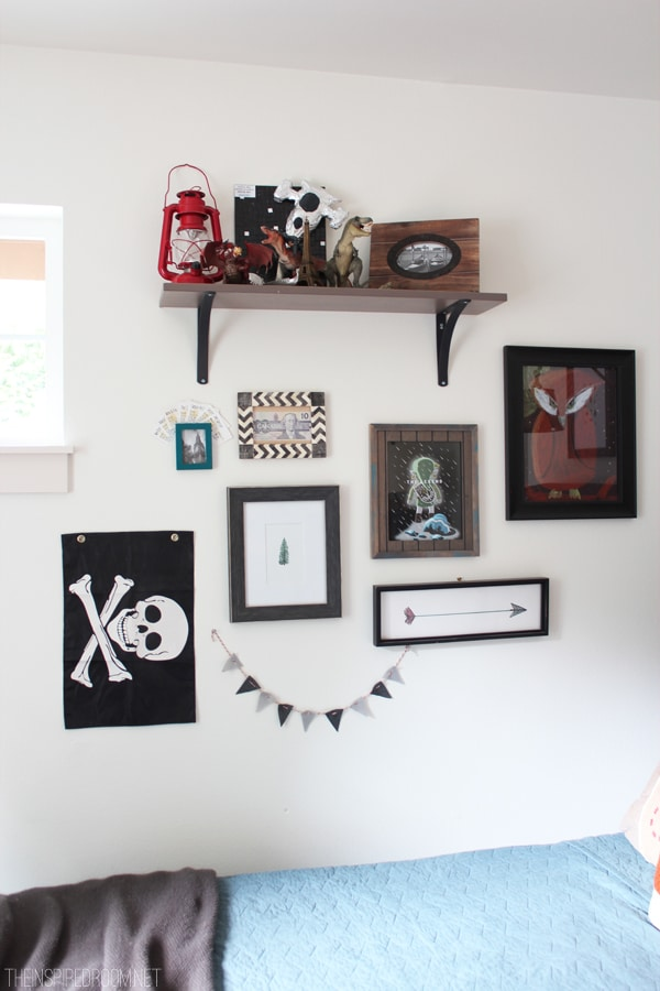 Boy's Bedroom Eclectic Gallery Wall