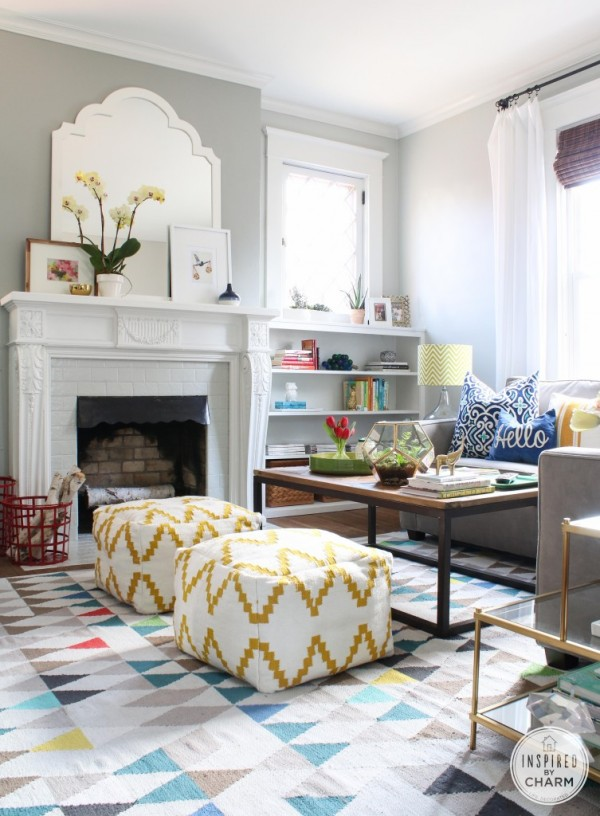Colorful Living Room {Inspired By Charm}