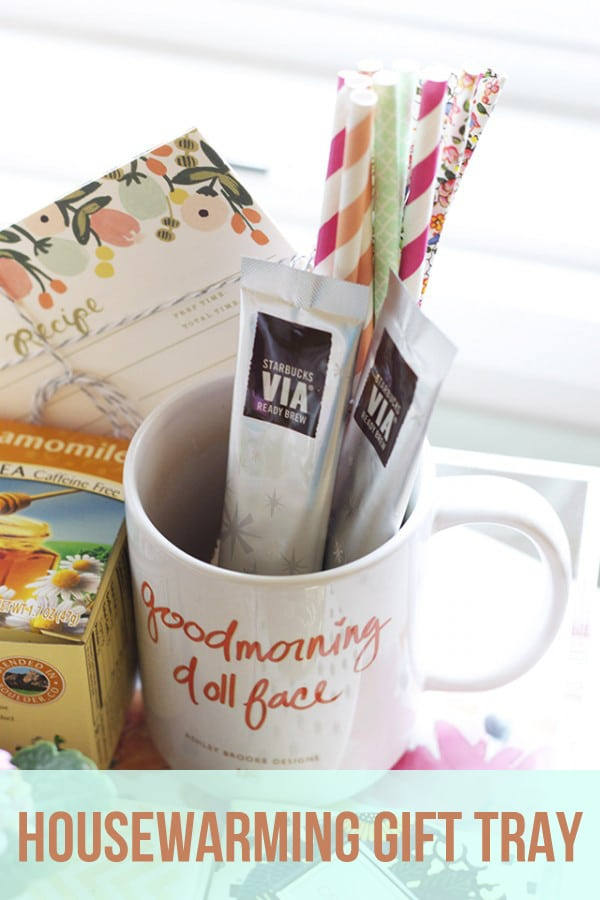 DIY Housewarming Gift Tray and Basket Ideas