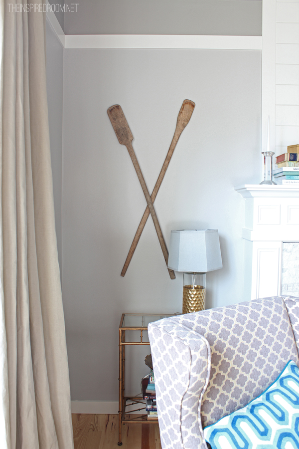 How To Hang Oars or Paddles In An X Shape The Inspired