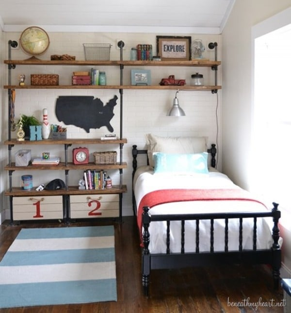Industrial Shelf Boy's Room