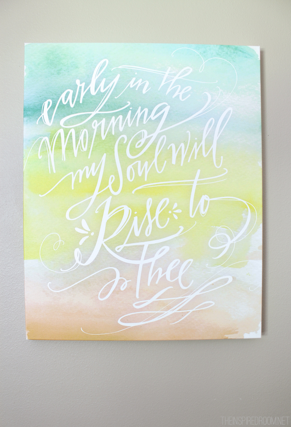 An Inspired Room {Art by Lindsay Letters}