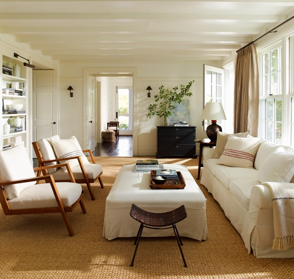 Neutral Living Room by Sawyer Berson Architects