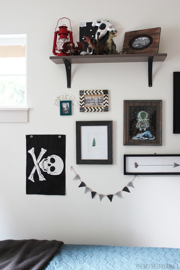 Teen Boy Wall Decor teen boy's small bedroom {an update} - the inspired room