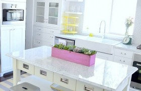 White Yellow Kitchen Makeover