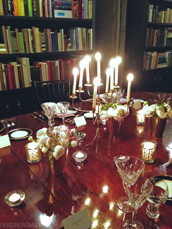 Dinner Party antique table at Christiane Lemieux SoHo Apartment