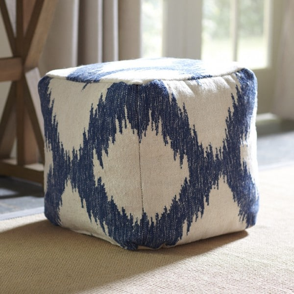 Hanley-Ikat-Pouf- Birch Lane