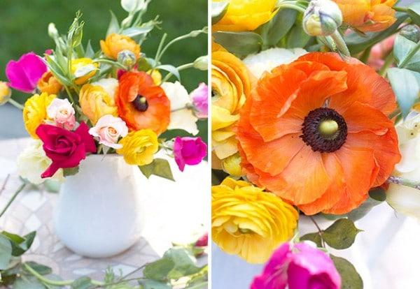 Spring Flower Arrangement & Easter Fruit Tart Recipe