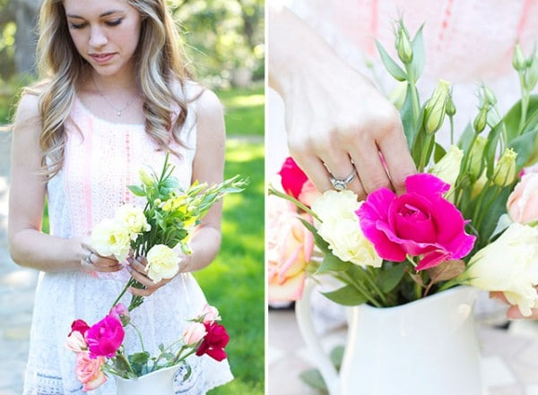Pretty Flower Arrangement DIY
