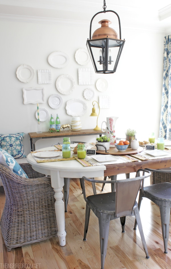 Pretty spring dining room