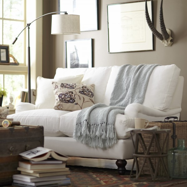 Slipcovered Loveseat Birch Lane