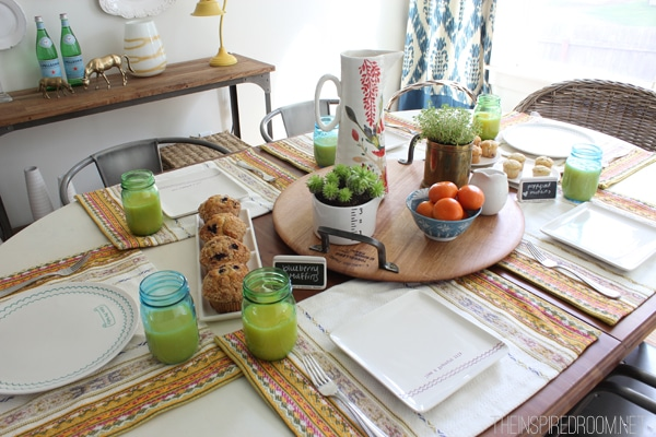 Spring Brunch Table