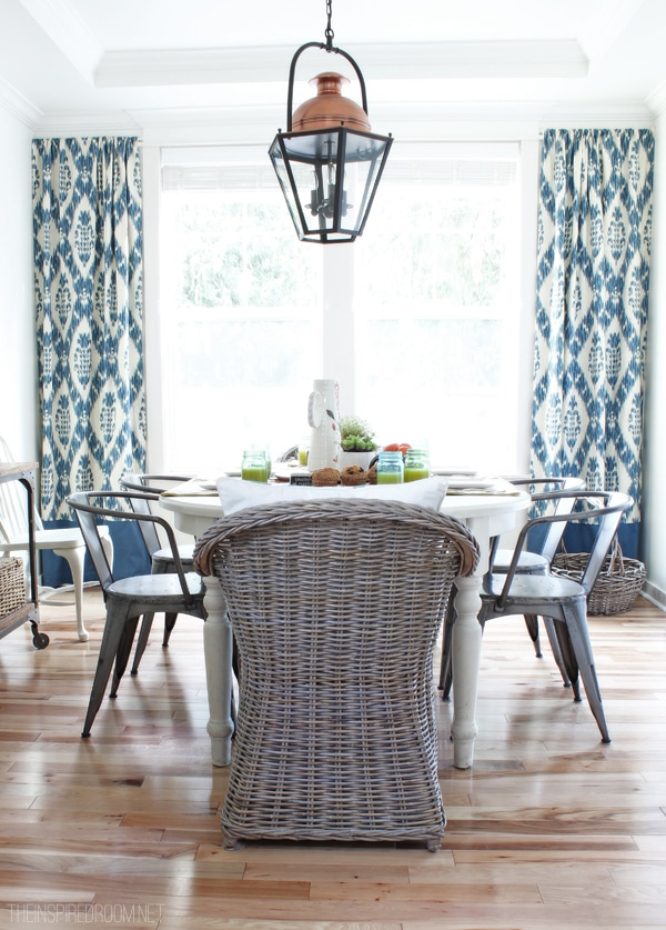 My New {Re-Invented} Summery Dining Room Curtains