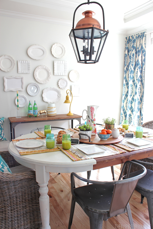 Spring brunch table - The Inspired Room