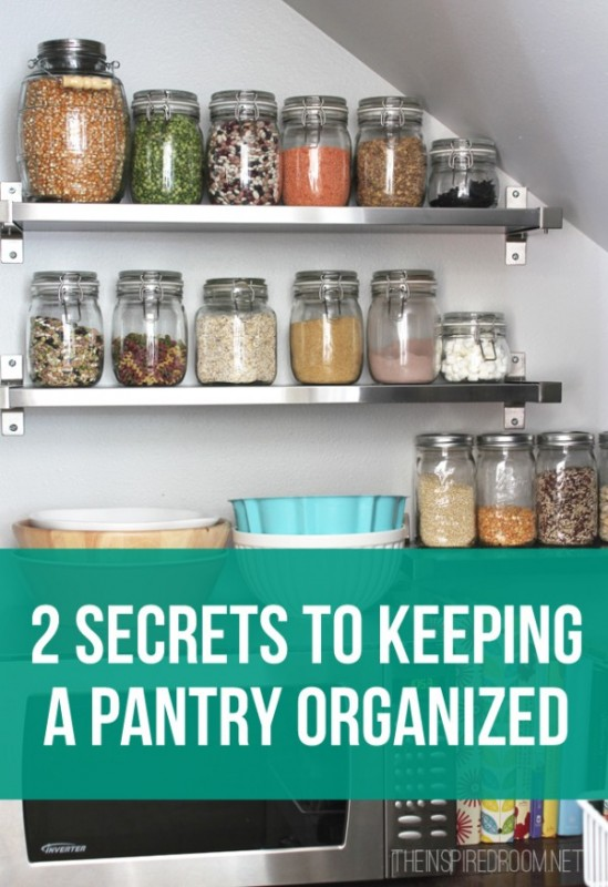 Two Secrets to Keeping A Pantry Organized by The Inspired Room