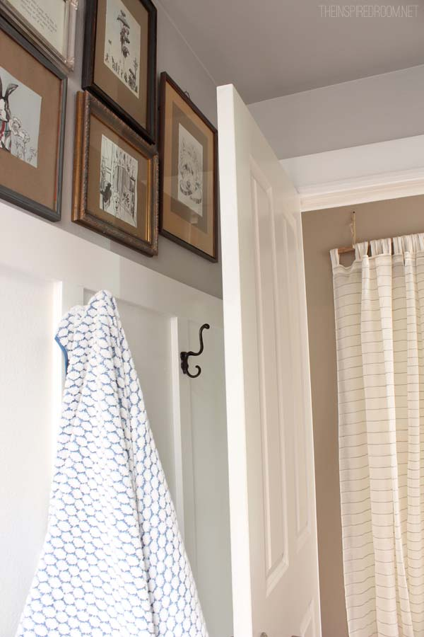 Bathroom Hooks on Board & Batten