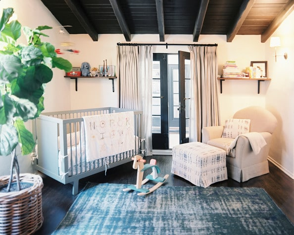 Beautiful Blue White and Black Nursery
