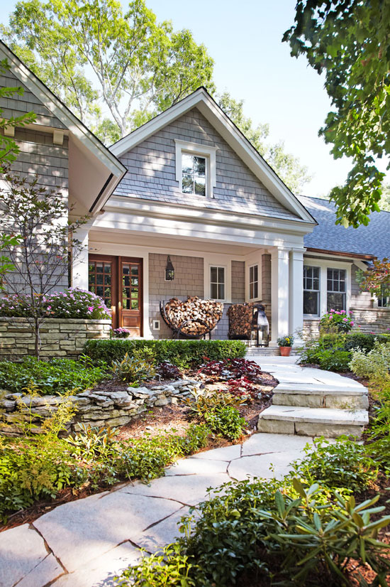 Curb appeal 3 memorable exteriors the inspired room for Redesigning the front of your house