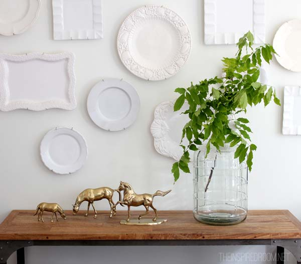 Dining Room Console Plate Wall