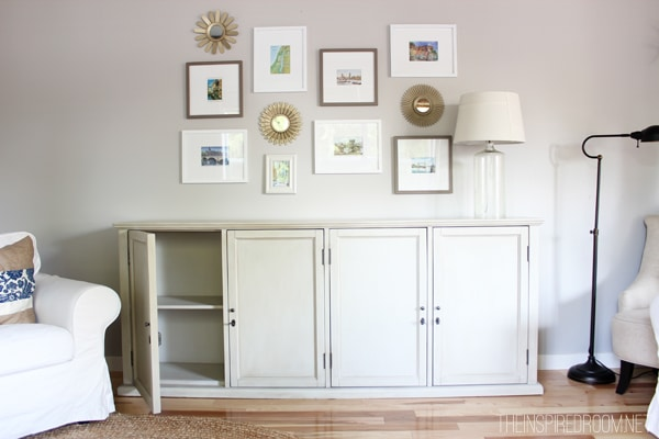 The Not So Big House {Organization in the Family Room}