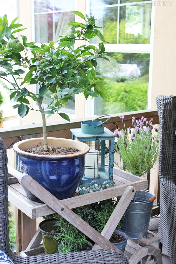 Front Porch Tea Cart Planter