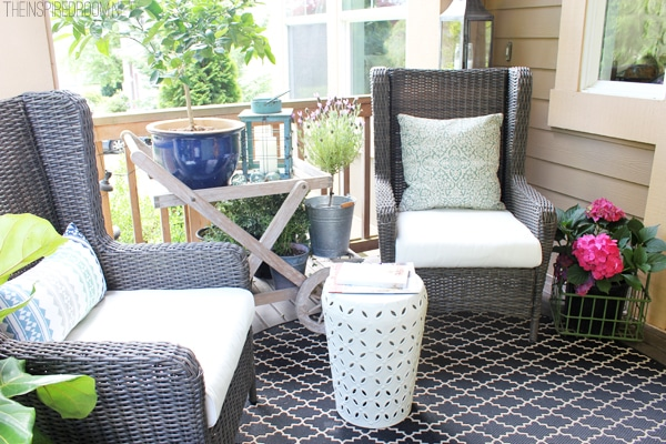 Himara Outdoor All Weather Wicker Wingback Chairs from World Market - The Inspired Room