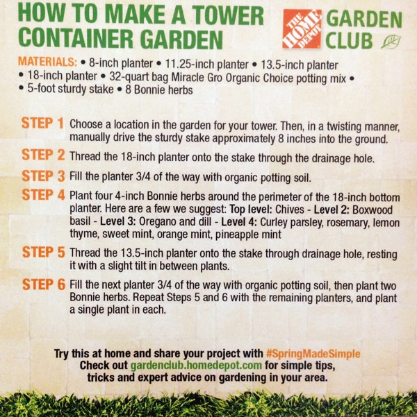 How to make a tower container garden