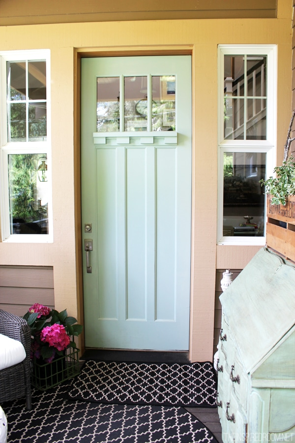 Light Blue Painted Front Door