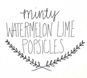 Minty Watermelon Lime Popsicle Recipe