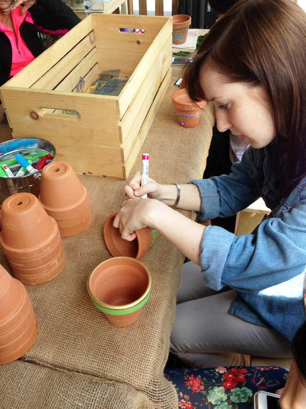 Painting Pots at the Home Depot Garden Party