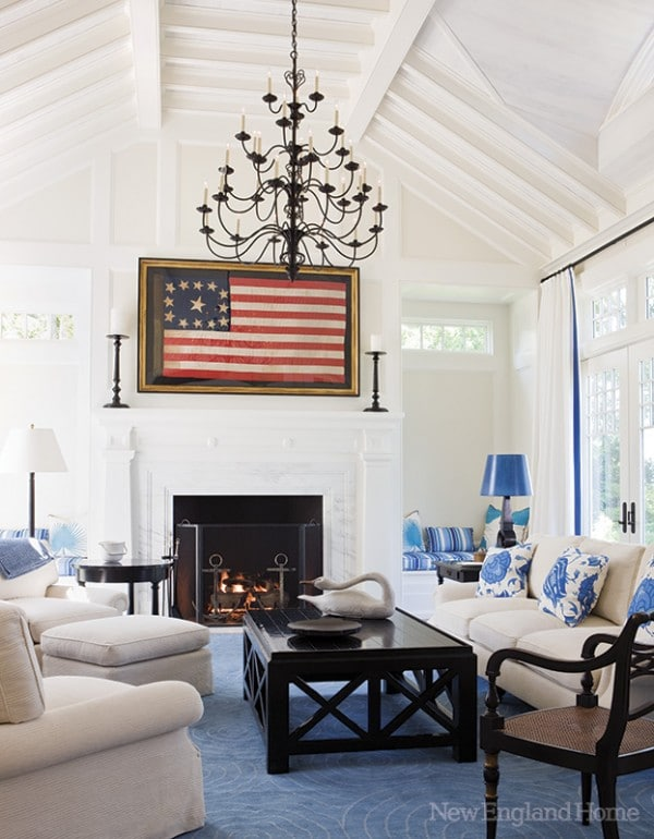 Red White Blue Family Room