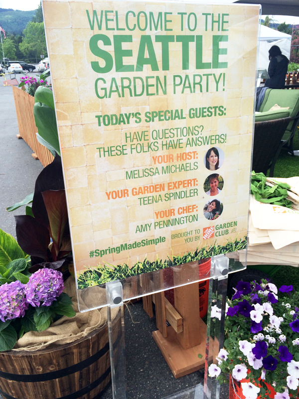 Seattle Garden Party with Home Depot
