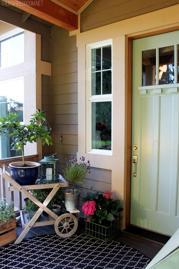 Spring Gardening Front Porch