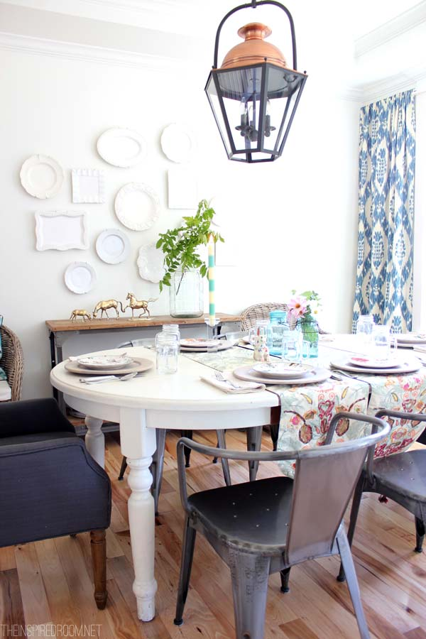 Diy decorating my house tour the inspired room - How to decorate my dining room ...