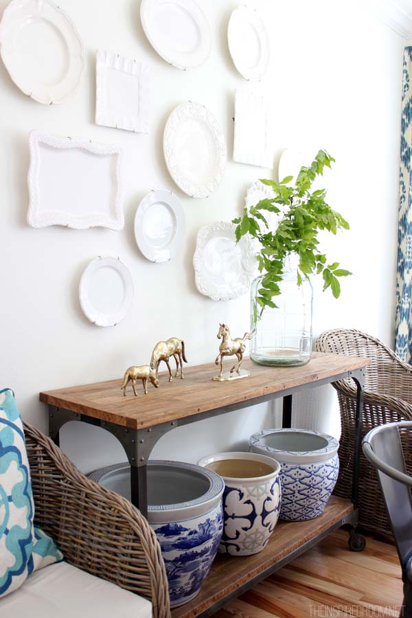 Diy decorating my house tour the inspired room for How to decorate my dining room table