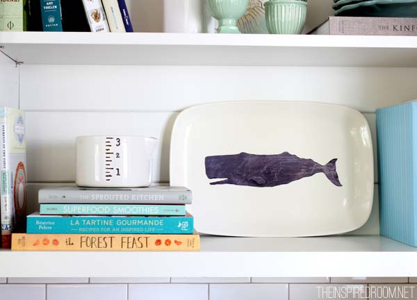Whale Plate Summer Decorating