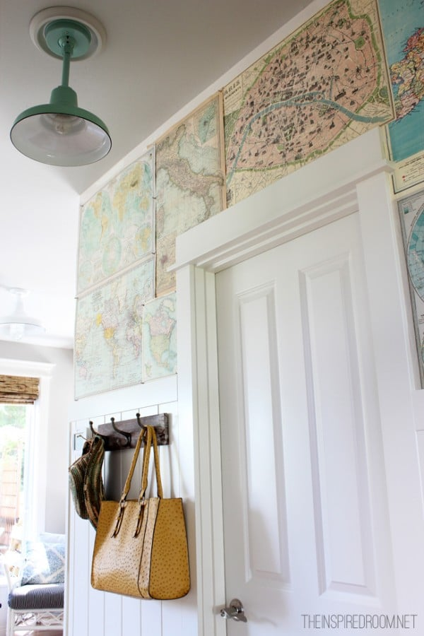 A meaningful home - map wall The Inspired Room