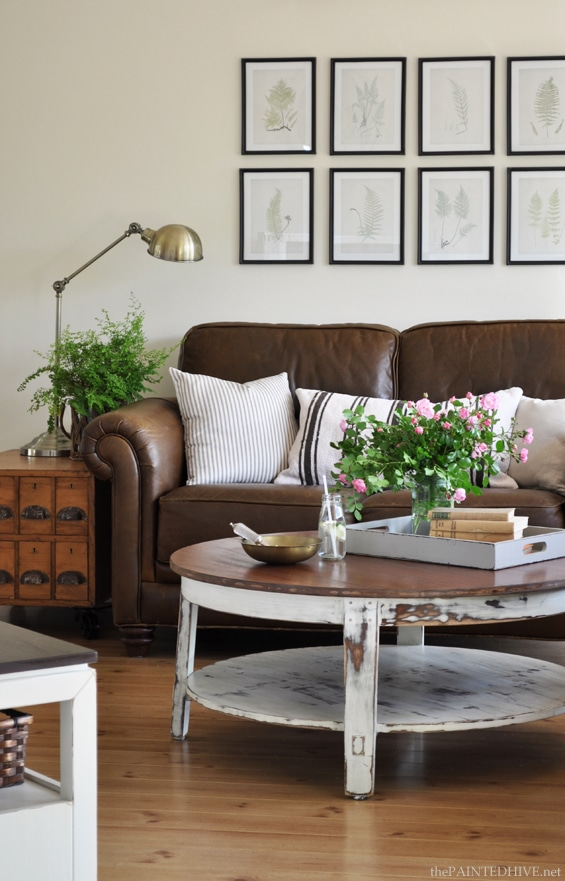 Decorating with Leather {The New Sofa} - The Inspired Room