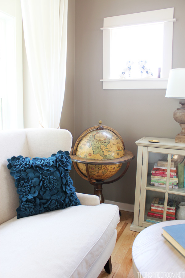 Cozy Reading Corner from The Inspired Room