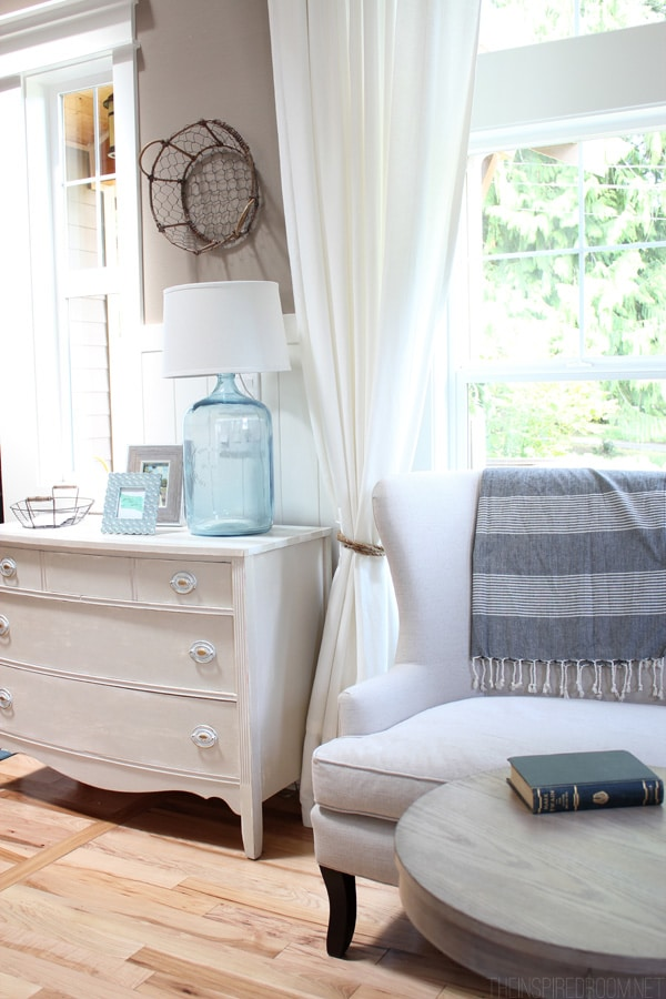 Entryway Dresser and Settee- The Inspired Room