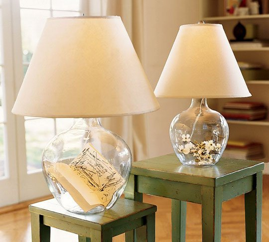inspiration  fillable glass lamps