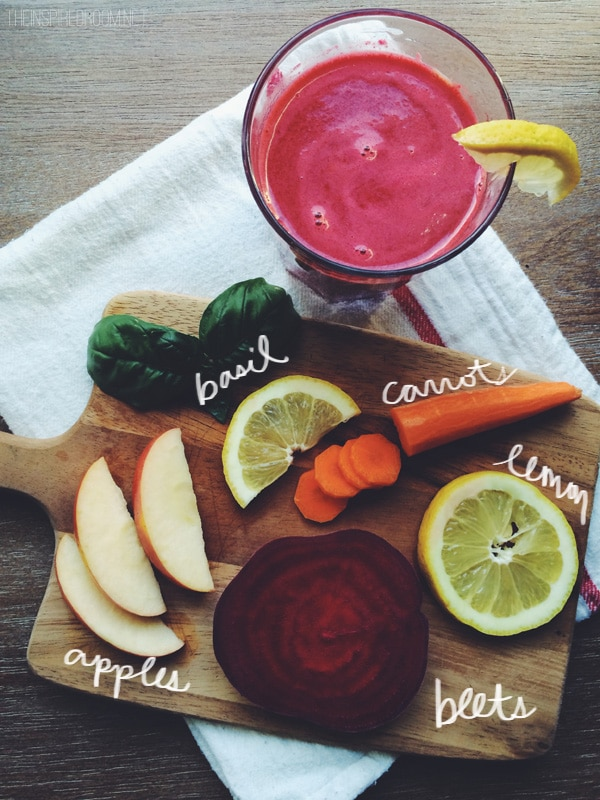Healthy ingredients for juicing