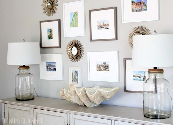 Summer Decorating Gallery Wall - The Inspired Room